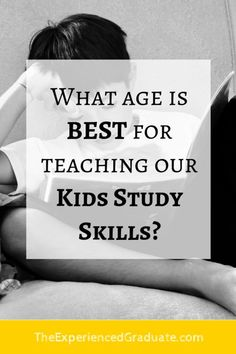 "I have parents ask me all the time what age is the BEST age for teaching our kids good study skills for school. Some parents even say, ""Oh, my child can't learn study skills yet. They are too young!""As an academic mentor, I teach these skills to other students who have never had an opportunity to learn these skills. So when I teach these study skills for school, some parents believe that their child is too young to learn study skills if they are not in high school yet."