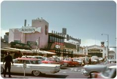 1962: Alioto's and and Fisherman's Grotto at Fisherman's Wharf, San Francisco [source unknown]