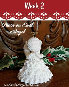 #12WeeksChristmasCAL - This week's free pattern is by Oombawka Design Crochet. Make this beautiful angel to adorn your home for the holidays. Or keep her around for good luck all year! #crochet #patternparadisecrochet #oombawkadesign #redheartjoycreators