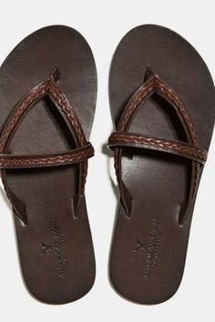 's Braided Sandal (Dark Brown)