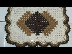 Crochet Placemats, Crochet Carpet, Crochet Videos, Bathroom Sets, Coasters, Make It Yourself, Rugs, Youtube, Crafts