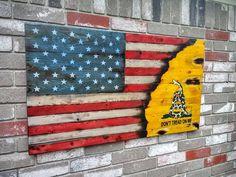 Rustic American Gadsden Flag