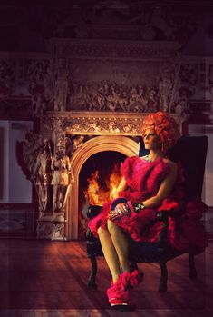 That fireplace is Mahogany.