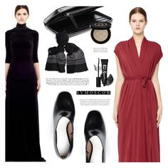 """""""SVMOSCOW"""" by defivirda ❤ liked on Polyvore featuring Rick Owens Lilies, Maison Margiela, Vetements, Ann Demeulemeester, Blackyoto and Gucci"""