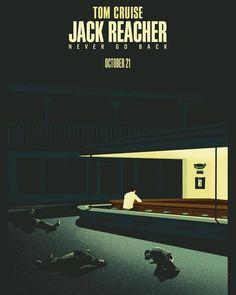 Nighthawks-inspired teaser poster for Jack Reacher: Never Go Back. (Design by Josh Blake.)