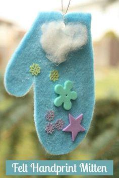 Handprint Mitten Ornament