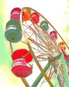 High in the sky ferris wheel carnival county fair  by gbrosseau, $20.00
