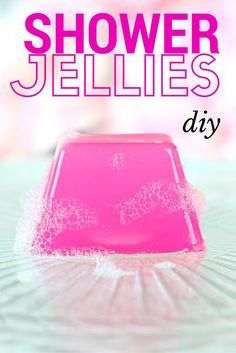 DIY Shower & Bath Jellies--SO cute & inspired by LUSH!