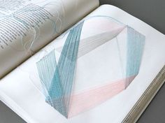 Traumgedanken (Thoughts on Dreams): A physical hyperlink book by German artist Maria Fischer #links #typography #thread