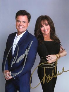 Donny and Marie autographed pic