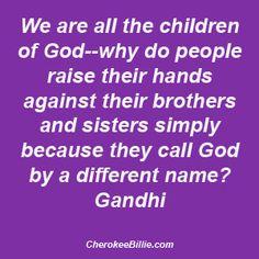 Gandhi- true words