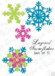 Layered Snowflake Dies - Whimsy Stamps