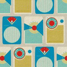 Transistor Blue Fabric
