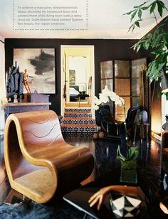 i have always loved black hardwood floors & great spanish tile