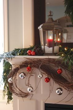 I need to add snow inside my lanterns.  I have the Bethlehem Lights battery operated candles that (no joke) look totally authentic!