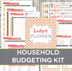 Aztec design budget planner printables! Organize family finances in style. Fillable PDFs from Perennial Planner.