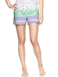 Daytona stripe poplin shorts   Gap - plan to live in these