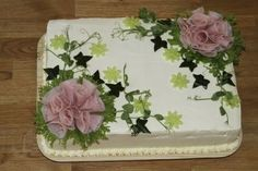 Kinkku-voileipäkakku Savoury Baking, Savoury Cake, Sandwich Torte, Tea Party Sandwiches, Finnish Recipes, Food Garnishes, Salty Cake, Cake Decorating Techniques, Food Decoration
