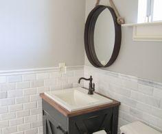 Bathroom Redo Grouted Peel And Stick Floor Tiles Wire