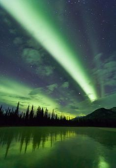 Green bands of northern lights | sky | | night sky | | nature |  | amazingnature |  #nature #amazingnature  https://biopop.com/