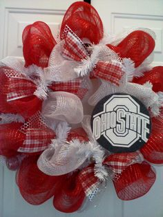 college or football team wreaths...Reel Sassy wreaths are homemade - to order sbsLas@hotmail.com