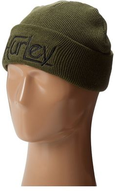 $22, Olive Beanie: Hurley Original Beanie. Sold by Zappos. Click for more info: https://lookastic.com/women/shop_items/145643/redirect