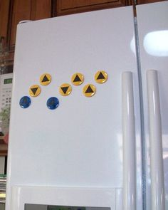 The Legend of Zelda - Ocarina C-Button Magnets ($11) *They are also available as pins.*