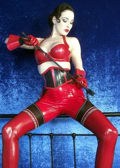 Dita Von Teese | red latex