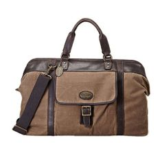 Fossil Men's 'Estate' Waxed Canvas Duffle