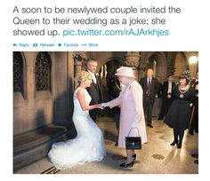 Queen leaves couple stunned after Her Majesty accepts wedding invitation at Manchester town hall.