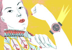 "Illustration for the magazine ""Tiempo de relojes"", México"