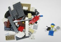 50+ LEGO Pieces W/ Custom Minifigure Repair Man Washed and Sanitized NEW (WF23) $0.99 Free Shipping Auction on ebay