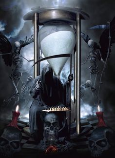 Chronos The Reaper by Kiriya on DeviantArt Dark Artwork, Skull Artwork, Dark Art Drawings, Death Reaper, Grim Reaper Art, The Reaper, Dark Fantasy Art, Reaper Tattoo, Satanic Art