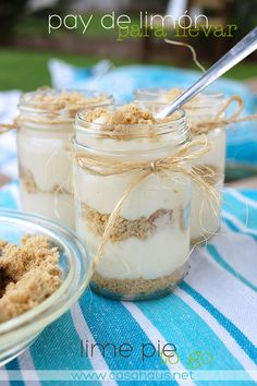 Pay de limón en un frasco // Lime pie in a jar // Casa Haus