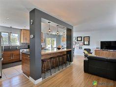 Open Concept Kitchen Room Design Ideas For Dummies 30 - homemisuwur Kitchen Room Design, Modern Kitchen Design, Living Room Kitchen, Home Decor Kitchen, Interior Design Kitchen, Home Kitchens, Dining Room, Kitchen Colors, Rustic Kitchens