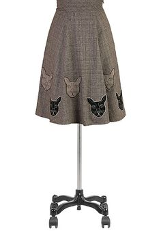 Tweed Check Skirts, Cat Skirts Womens designer fashion - Ladies Skirts - Women's Skirts - Skirts for Women   eShakti.com