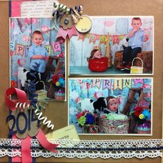 3 picture scrapbook layout .... Easter 2014 Picture Scrapbook, Easter 2014, 3 Picture, Layout, Frame, Home Decor, Picture Frame, Decoration Home, Page Layout