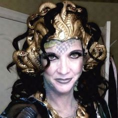 Very intense Medusa Halloween costume!