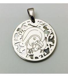 5c00e66fed66 Medalla exclusiva De Bussy Virgen del Camino en plata de ley y nácar  diametro