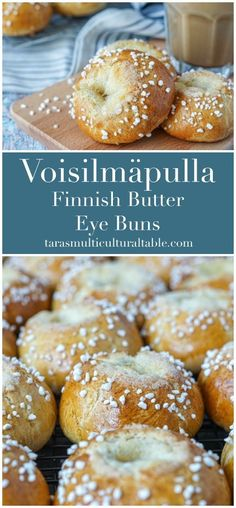 Voisilmäpulla (Finnish Butter Eye Buns) recipe for These golden, cardamom-scented buns have a center bursting with butter and sugar. Pulla Recipe, Finnish Pulla Bread Recipe, Finnish Cuisine, Finland Food, A Food, Good Food, Finnish Recipes, Bun In The Oven, Scandinavian Food