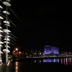 night photo of Thessaloniki waterfront Around The World In 80 Days, Around The Worlds, Macedonia Greece, City That Never Sleeps, Night Photos, Santorini, Marina Bay Sands, Night Life, Places