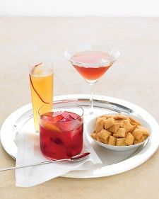 This drink marries bourbon and Thanksgiving's signature berry. It's strong, so you may want to add an extra tablespoon or two of water when muddling.