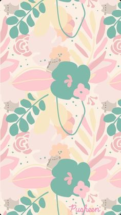 Pusheen is a tubby tabby cat who brings smiles and laughter to people all around the world! Pink Easter Wallpaper, Pink Clouds Wallpaper, Hello Kitty Iphone Wallpaper, Cute Pastel Wallpaper, Cute Patterns Wallpaper, Cat Wallpaper, Kawaii Wallpaper, Cute Wallpaper Backgrounds, Wallpaper Iphone Cute