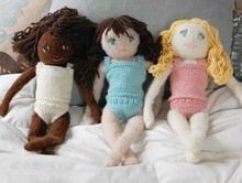 Three adorable dolls to knit!