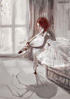 Ballerina (s6/redbubble)Young Natasha Romanoff as ballerina. done for my amazing girlfriend domiiik <3