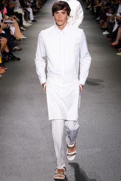 All white.  /// Givenchy Spring/Summer 2013   #fashion #menswear