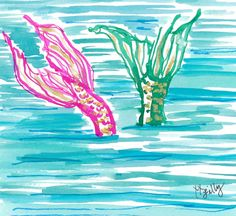 Beating the heat mermaid style. Inspired by fellow sea-lover @kambs1221 #Lilly5x5