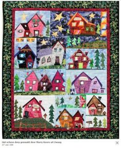 BOM wonky houses quilt - by Sulky