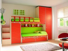 This might be nice for Nick's room. Bright Color Kids Room
