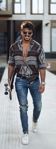 Ideas for moda casual hombre outfits jeans Stylish Mens Fashion, Stylish Mens Outfits, Casual Outfits, Men Casual, Men Fashion, Smart Casual, Casual Styles, Summer Outfits, Fashion Mode